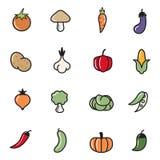 Icônes de légumes Photo stock