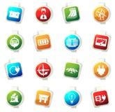 Icônes de l'électricité réglées Photos stock