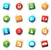 Icônes de l'électricité réglées Images stock