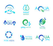 Icônes de l'eau illustration de vecteur