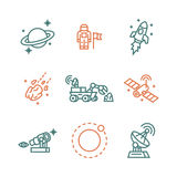 Icônes de l'espace Photographie stock libre de droits