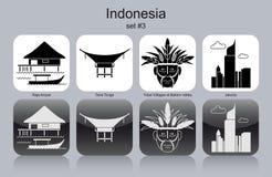 Icônes de l'Indonésie illustration stock