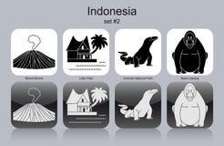 Icônes de l'Indonésie illustration de vecteur