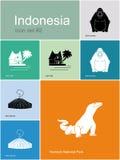 Icônes de l'Indonésie illustration libre de droits