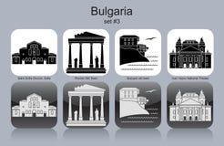 Icônes de la Bulgarie illustration libre de droits
