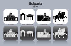 Icônes de la Bulgarie illustration stock