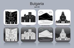 Icônes de la Bulgarie illustration de vecteur