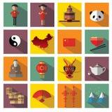Icônes de la Chine Photographie stock