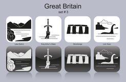 Icônes de la Grande-Bretagne Images stock