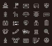Icônes de la politique des Etats-Unis Photographie stock libre de droits