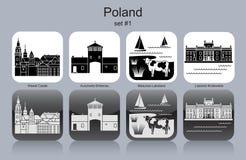 Icônes de la Pologne illustration de vecteur