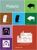 Icônes de la Pologne illustration libre de droits