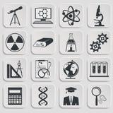 Icônes de la Science réglées illustration stock