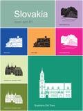 Icônes de la Slovaquie illustration stock
