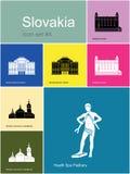 Icônes de la Slovaquie illustration de vecteur