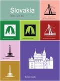 Icônes de la Slovaquie illustration libre de droits
