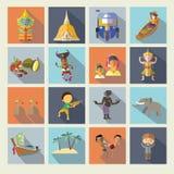 Icônes de la Thaïlande Photo stock