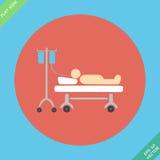 Icônes de la vie, hospitalisées avec le vecteur de sérum Photos libres de droits
