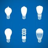 Icônes de lampe Photographie stock