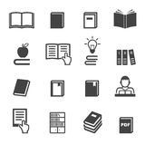 Icônes de livre Images stock