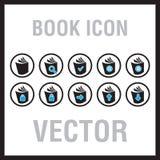 Icônes de livre Photographie stock
