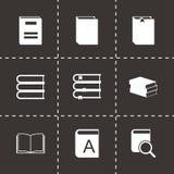 Icônes de livre noir de vecteur réglées Image libre de droits