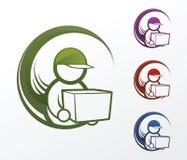 Icônes de livreur Image stock