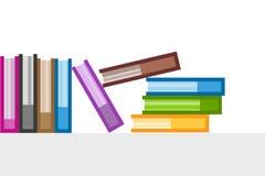Icônes de logo de vecteur de livres réglées Fond de vente Photo libre de droits