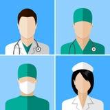 Icônes de médecin et d'infirmière Images libres de droits