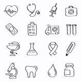 Icônes de médecine Photo stock