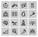 Icônes de médecine et de Heath Care Photographie stock