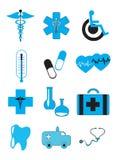 Icônes de médecine et de soins de santé Photos stock