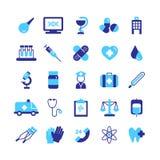 Icônes de médecine réglées illustration libre de droits