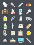Icônes de médecine réglées Image libre de droits