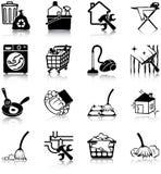 Icônes de ménage illustration stock