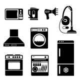 Icônes de ménage Images libres de droits