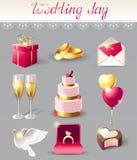 Icônes de mariage Image stock