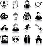 Icônes de mariage Photographie stock libre de droits