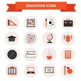Icônes de matière d'enseignement Photographie stock