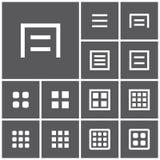 Icônes de menu Image stock