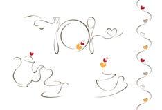 Icônes de menu de coeur Image stock