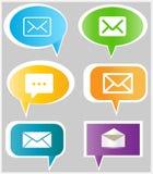 Icônes de message Photos libres de droits