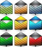 Icônes de message Images stock
