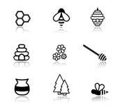 Icônes de miel Photos libres de droits