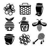 Icônes de miel réglées Image libre de droits