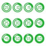 Icônes de minuterie de Digital réglées Images libres de droits