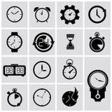 Icônes de minuterie de vecteur réglées Images libres de droits