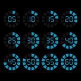 Icônes de minuterie de vecteur réglées Photos stock