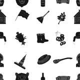 Icônes de modèle de pays de la Russie dans le style noir Grande collection d'illustration d'actions de symbole de vecteur de pays Photo stock