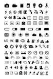 Icônes de mode d'appareil-photo Images libres de droits